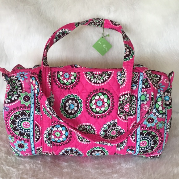 7a06a679e2 NWT Vera Bradley Small Duffel in Cupcake Pink